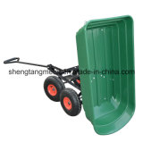 4개의 바퀴 정원 Cart Truck 75L Sack Trolley Wheelbarrow Tipper Tipping Trailer