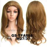 Parrucche superiori dello Synthetic 3/4 delle donne di modo con il pettine di plastica