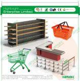 Supermarkt-Speicher-hölzerner Prüfungs-Empfang-Schreibtisch