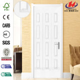 Porte en bois extérieure d'amorce plus blanche de HDF