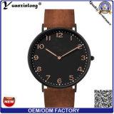 El cuarzo de la fábrica Yxl-744 mira los relojes de cuero de encargo de los hombres para los hombres
