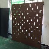 Showing部屋のためのPVDF Coatingの刻まれたJewllery Aluminum Panels