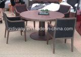 Tableau en bois rond de type de meubles européens de salle à manger (E-33)