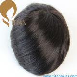 Le Toupee de cheveux humains de délié de nature avec l'épicrâne de simulation amincissent la peau