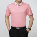 Camicia 100% di polo su ordinazione più poco costosa del poliestere di marchio e di colore