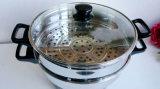 Cuisine en acier inoxydable électrique non-Stick Steamer Pot & Frypan
