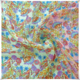 Telas de seda Chiffon con impreso