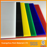 A placa plástica da cor PMMA moldou a folha acrílica