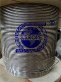 Câble métallique d'acier inoxydable 7 x 19, 1 x 19 brin, faisceau de 6 x 19 fibres