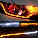 Bianco/ambra di giorno flessibili scorrenti di cristallo dell'indicatore luminoso di girata dell'indicatore luminoso corrente di alto potere LED dell'indicatore luminoso di giorno di DC12V 500mm-700mm Vinstar LED DRL