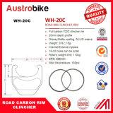 Rodas baratas chinesas do rebitador da bicicleta da estrada do carbono de 700c 25mm largamente 30mm/borda