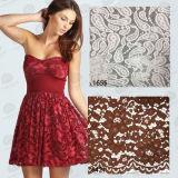 Laço do bordado do algodão da forma para o laço do vestuário/tela/senhora Pingamento Laço