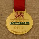 Medalha feita sob encomenda do karaté do bronze da prata do ouro do metal com a fita impressa