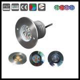 acier inoxydable DEL Inground extérieur Lamp&Light de 3W IP67