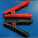 Plaque de cuivre Alligator Clip / Terminaisons de batterie, pince de batterie (HS-BT-001)