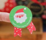 Etiqueta engomada impresa etiqueta auta-adhesivo de papel de la impresión de la escritura de la etiqueta de las etiquetas engomadas de la Navidad