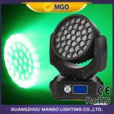 Indicatore luminoso capo mobile girante dello zoom LED dell'abito 600 RGBW del partito 37X10W della lavata del DJ