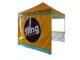 おおいを折る防水おおいデザインによってはおおいのテントが現れる