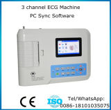 12 der Kanal Bestätigte-Maggie des Leitungskabel-3, der ECG Maschine mit PC Software 3.5 Zoll LCDdigital Electrocardiograph EKG-903BS mit Cer ISO stillsteht