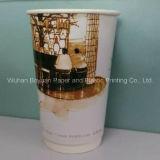 taza de café doble del papel de empapelar 16oz