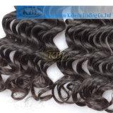 Cabelo profundo de trama, cabelo humano da onda do Virgin brasileiro