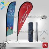 Polyester 100% gedruckte kundenspezifische Teardrop-Fahne