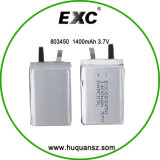 MP4를 위한 803450 3.7V 1400mAh Customize Lithium Battery