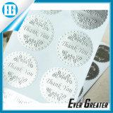 Etiqueta engomada auta-adhesivo de encargo del papel de aluminio
