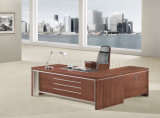 Latest Executive Office Table Design Photos, Metal Frame Desk with Bookshelf (SZ-ODB367)