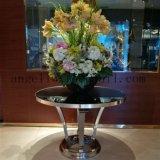 Étagère à étagères décoratifs en acier inoxydable à la mode pour sculptures en fleurs