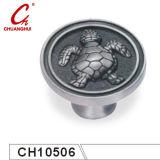 Sea Turtlesの形をした銀色のKnob Handles