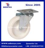Roda branca plástica do rodízio do tamanho pequeno