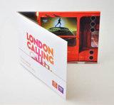 """Cartolina d'auguri dello schermo dell'affissione a cristalli liquidi di abitudine 4.3 """" video"""