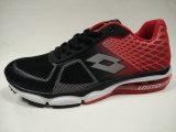 Ботинки Outsole черной красной воздушной подушки сетки верхней резиновый идущие