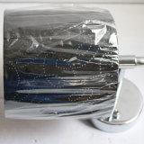 Lampe de mur décorative de chevet de chrome d'hôtel avec l'ombre de tissu
