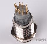 19mm Ring geleuchtete LED 1no Drucktastenschalter verriegelnd momentanen