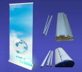 La pleine baisse en aluminium de luxe de l'eau enroulent le stand de bannière, large et bas larges enroulent l'affichage