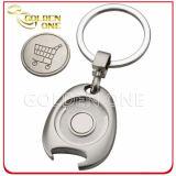 Bottle Opener를 가진 개인화된 Metal Trolley Coin Keyring