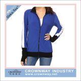 주문 로고를 가진 여자 운동복 체조 착용 운영하는 재킷