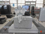 Granit Baby Monument/Infant Headstone mit Wing Carving