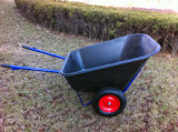 180L 무겁 의무 Durable Plastic Tray Wheelbarrow