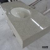 Kingkonree ha personalizzato la parte superiore di pietra di vanità del quarzo per il servizio della Doubai