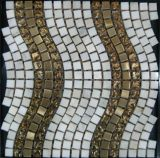 住宅建設の物質的なステンレス鋼の水晶大理石のモザイク・タイル(FYSM137)