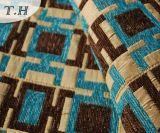 2016長方形パターン良質のジャカードソファーの布(FTH31614)