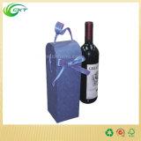 ハンドル(CKT- CB-116)が付いているクラフト紙のブランクのワイン・ボトルの包装ボックス
