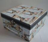Комплект коробки подарка дешево Three-Piece прямоугольных коробок сбор винограда красивейший