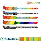 wristband ultraligero imprimible de la identificación de 13.56MHz MIFARE EV1 RFID Tyvek