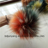 15cmののどのアライグマの毛皮のポンポンの毛皮の球