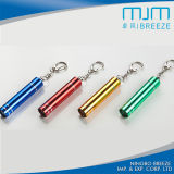 Promoción de aluminio llavero del regalo Mini luz LED