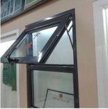 Polvere Coated Aluminum Top Hung Window con Double Glass